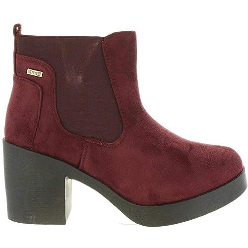 Botines de Mujer MTNG 58528 C36066 Burdeos: Amazon.es: Zapatos y complementos