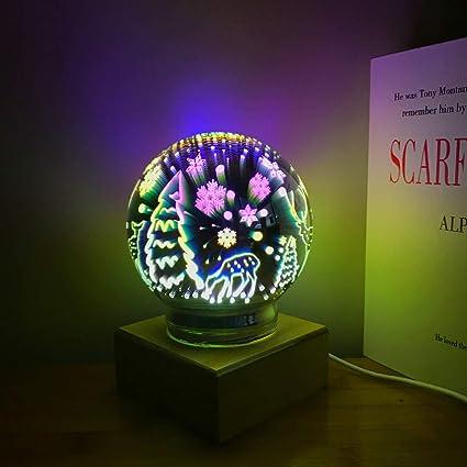 Amazon.com: Tmore - Lámpara de noche 3D con diseño de fuegos ...
