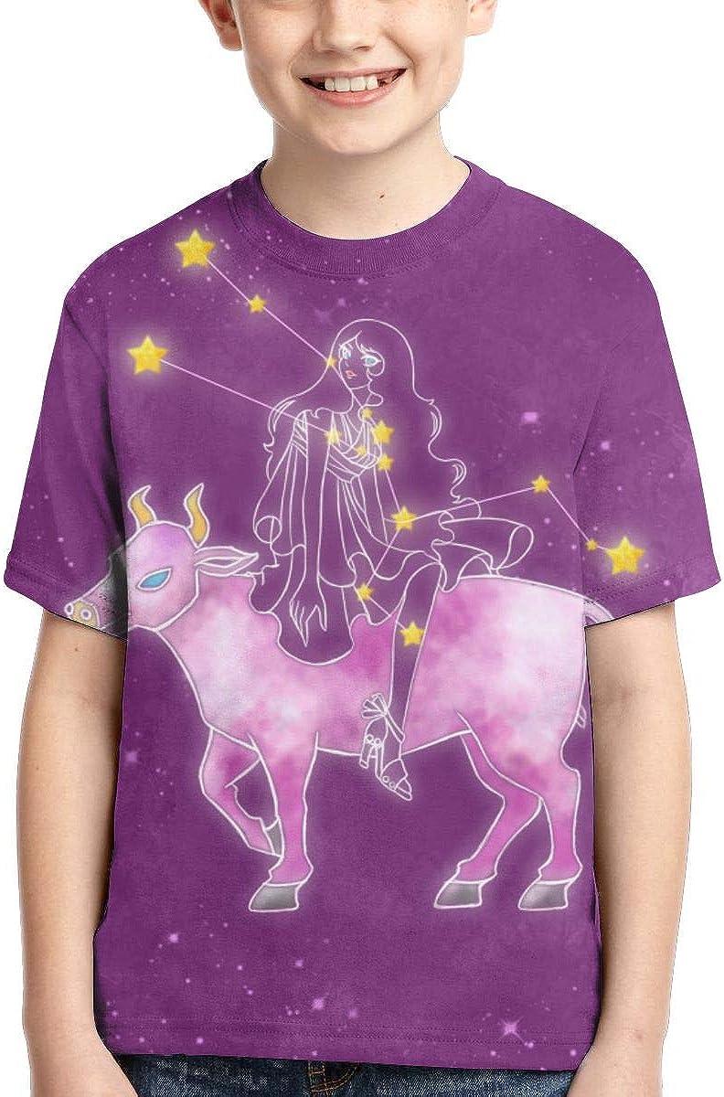 HHTZTCL Loyal Taurus Boys Print Graphic Tee Short Sleeve T-Shirt
