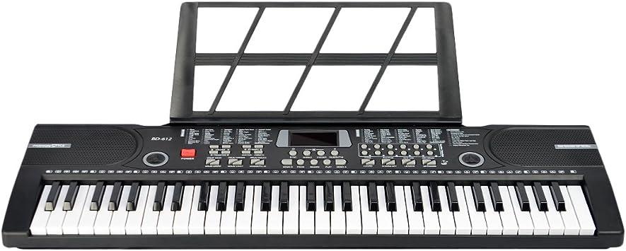 Lommer Piano Infantil, 61 Teclas Electrico Piano Keyboard con ...