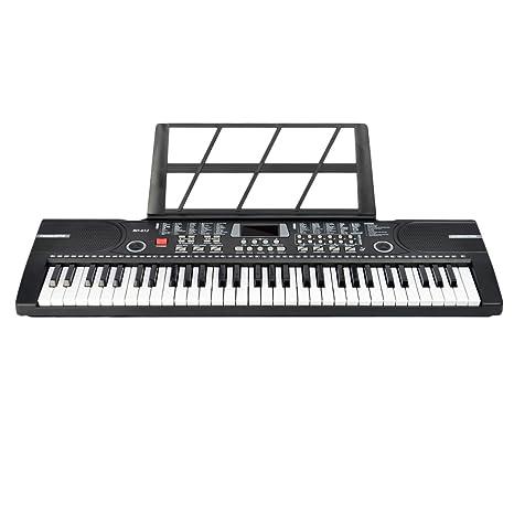 Piano para niños, Foxom 61 Teclas Electrónico Teclados Piano con Micrófono Partitura de Pie Piano