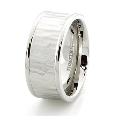 Edelstahl Ring w / Holz Design: Amazon.de: Schmuck