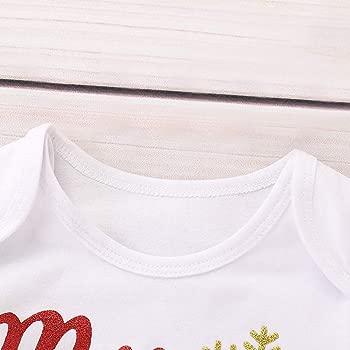 Xmiral 2 Piezas Camisa Mameluco con Estampado Navideño y ...