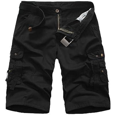 Fensajomon Mens Plus Size Loose Fit Casual Straight Leg Stretch Denim Shorts Jeans