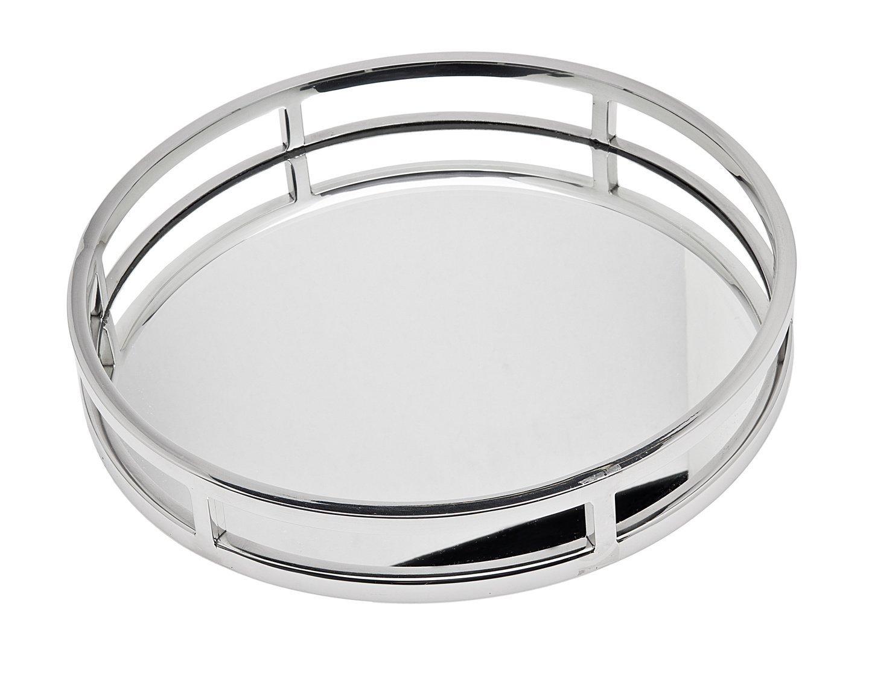 Godinger 49831 Aspen 13'' Round Gallery Tray,