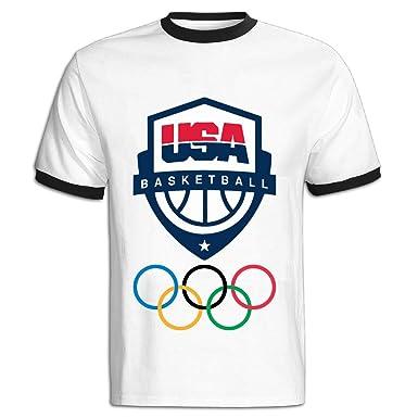 3829707d3c6fd Amazon.com: LEBULAN Men's Rio 2016 Olympics USA Basketball Team Logo ...
