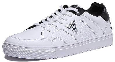 am beliebtesten aktuelles Styling Neuestes Design Guess Brian Sneaker Herren Weiss Sneaker Low: Amazon.de ...