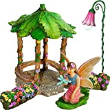 Mood Lab Fairy Garden – Figurines and Accessories Set – Hand Painted Miniature Gazebo Kit for Outdoor or House Decor Review