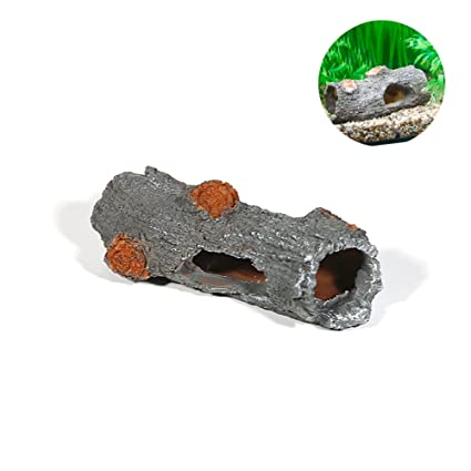 Amakunft adorno de acuario, pecera de resina para decoración de tronco, árbol de madera