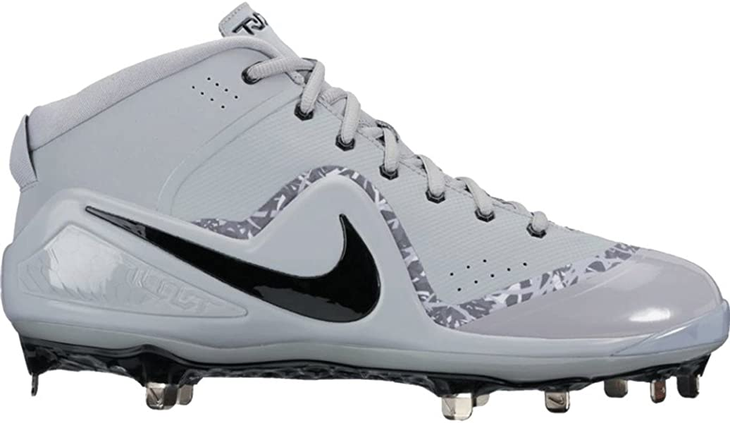 buy online a8b3b 4e151 Amazon.com | Nike Men's Force Zoom Trout 4 Mid Metal Baseball Cleats ...