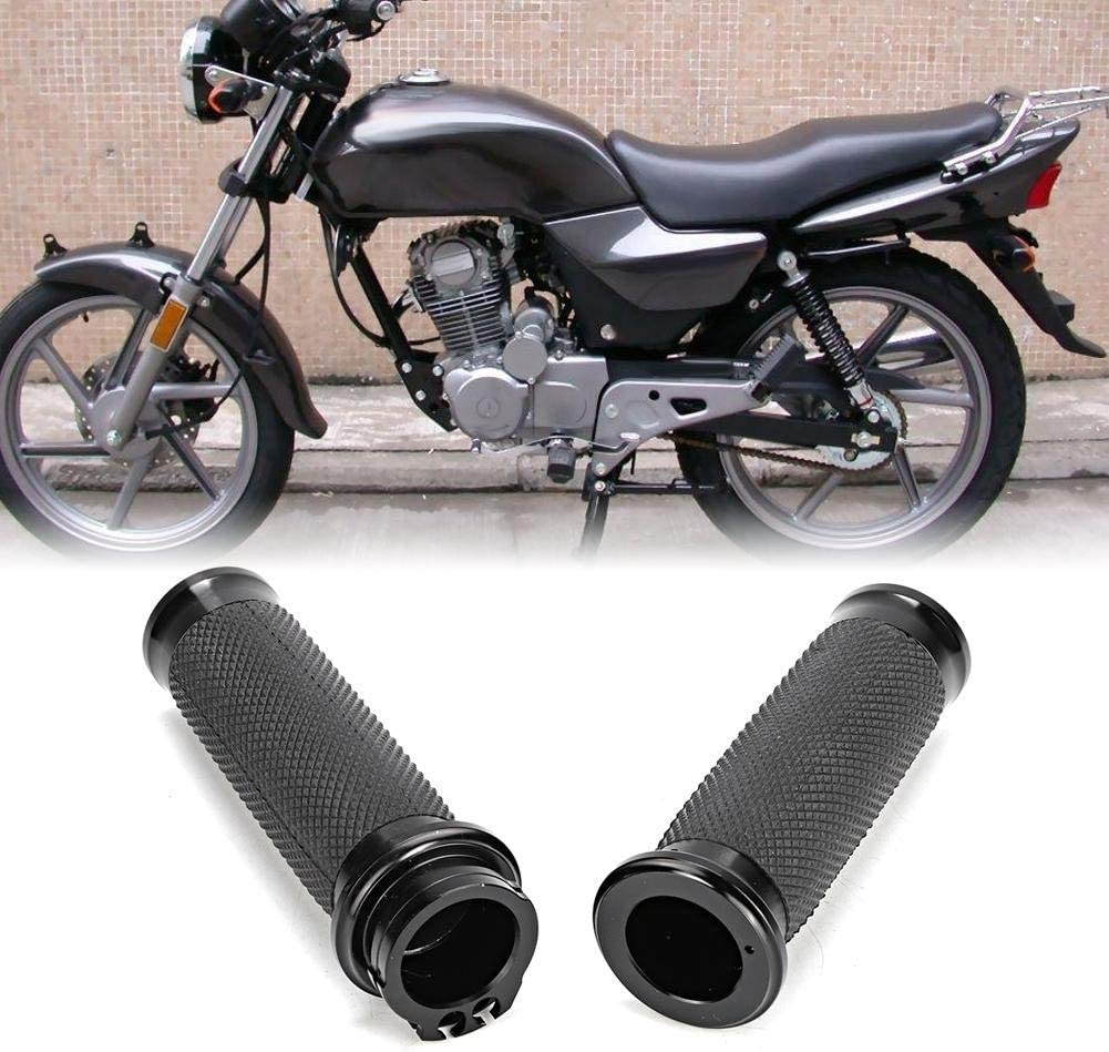 Chrom und Schwarz 25mm 2 St/ücke Motorrad Handgriffe Lenkergriffe Anti-Rutsch Handgriffe Motorradgriffe
