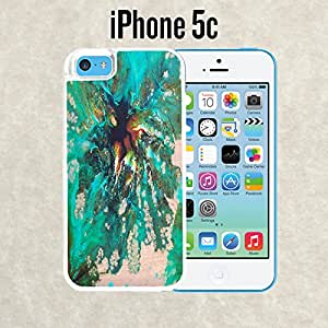 iPhone Case Nature summer green teal Floral for iPhone 5c White 2 in 1 Heavy Duty (Ships from CA)
