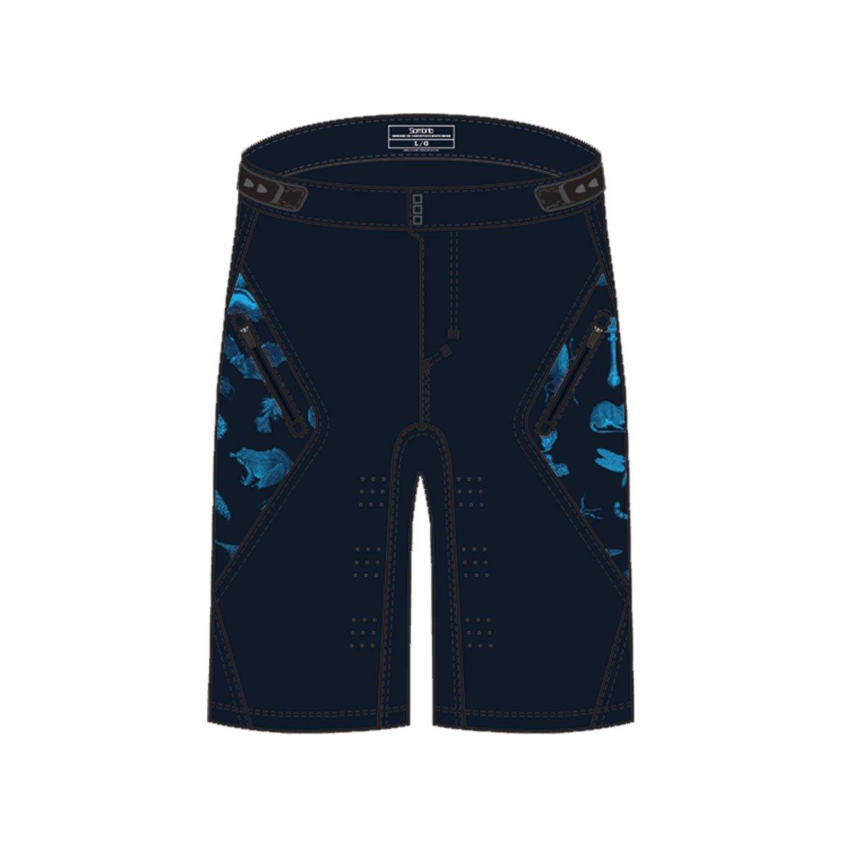 Sombrio 2018 Men 's Highline Cycling Shorts – b360040 m B074V7FNJR Small|Dark Night Forest Creatures Dark Night Forest Creatures Small