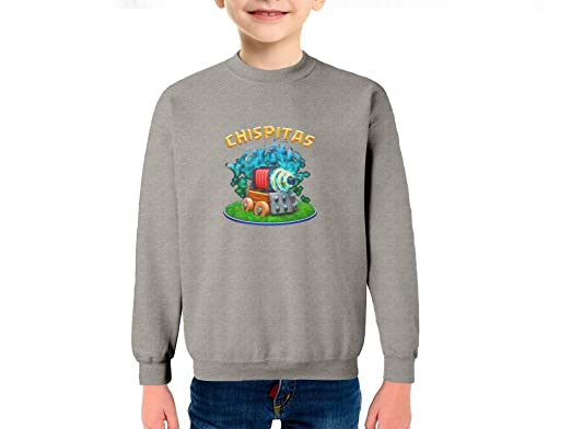 Chispita Carta Clash Royale Sudadera Algodón Color Gris ...