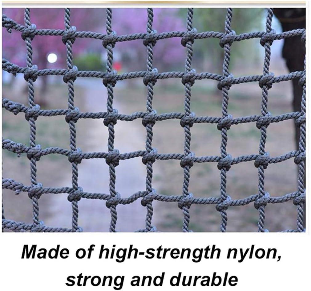 階段安全ネット屋外トレーニング開発保護ネットバルコニーロープネットクライミングアンチフォールネット幼稚園遊び場セーフティネット(14mm / 15cm) (Color : 14mm/15cm, Size : 3*3m/9.8*9.8ft) 14mm/15cm 3*3m/9.8*9.8ft