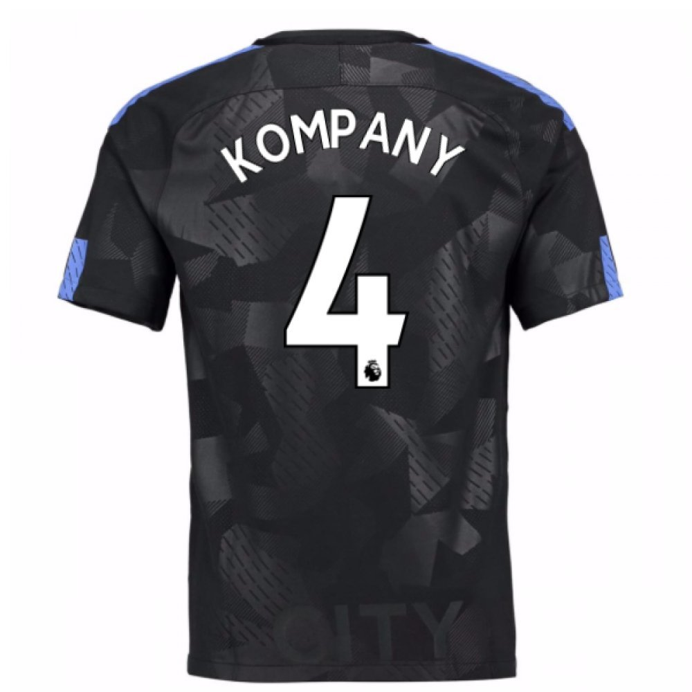 2017-18 Man City Third Football Soccer T-Shirt Trikot (Vincent Kompany 4)