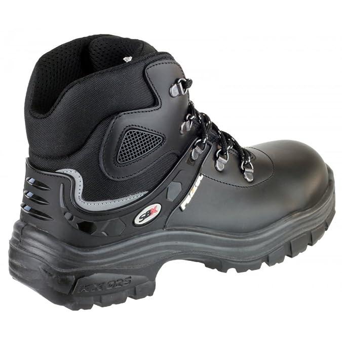Pezzol Samurai para hombre 805 Zapatos Botas de seguridad para motosierra de senderismo de trabajo cubiertos de piel color negro cordones: Amazon.es: ...