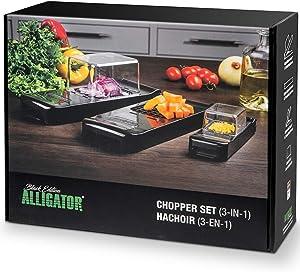 Alligator Chopper Set 3-in-1. Food Chopper, Onion dicer, Vegetable Cutter.