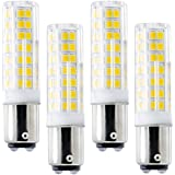 Ba15d LED Light Bulbs Double Contact Bayonet Base, 6W 120v 60W Equivalent Halogen Bulbs, Dimmable Sewing Machine Lamp 4 Pack