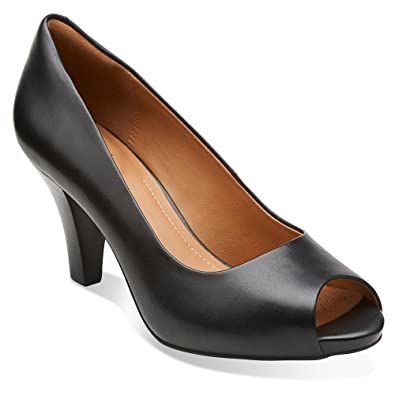 Clarks Florine Portia Clarks- Black Leather heels