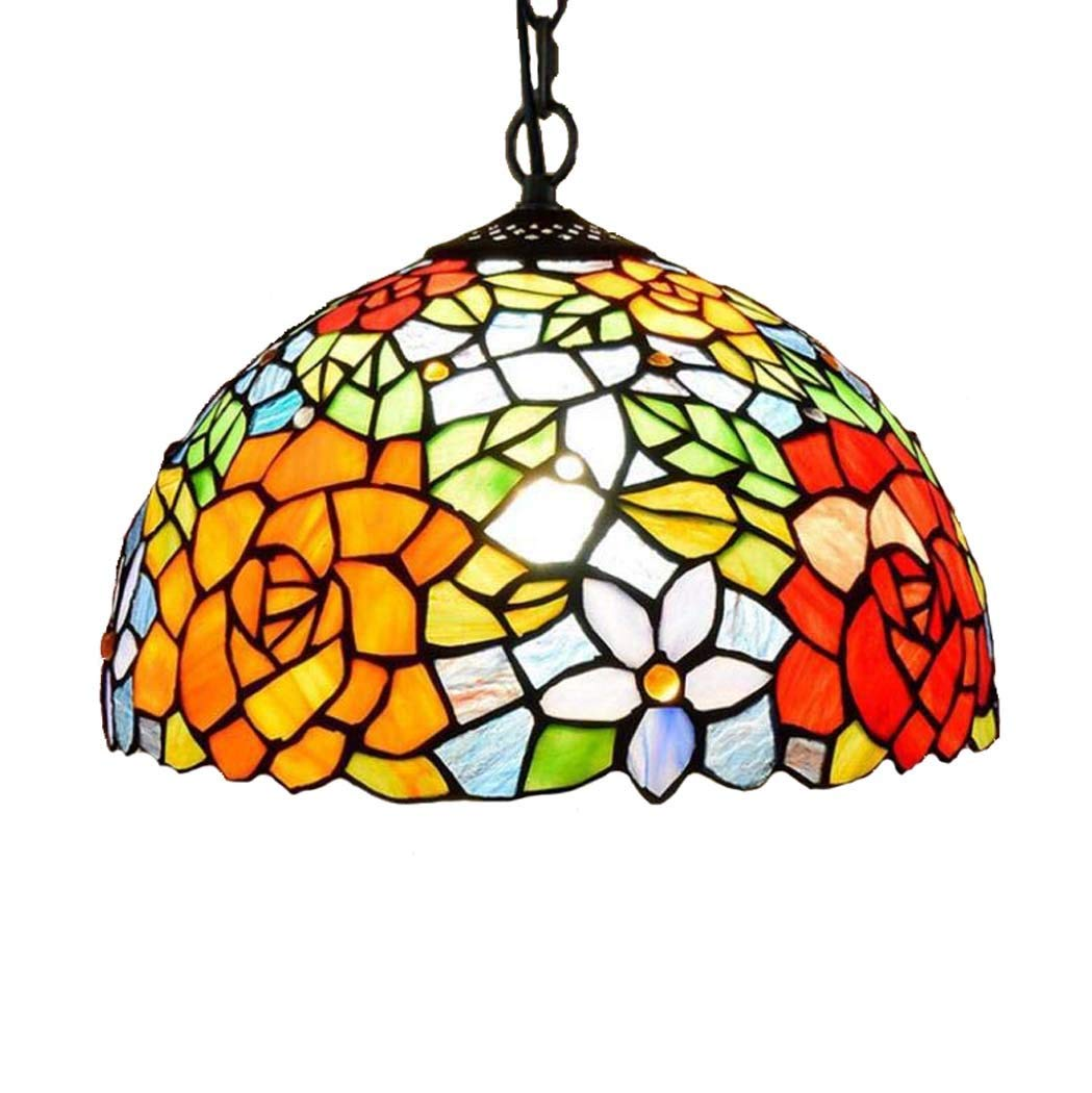 Amazon.com: Tiffany Style - Lámpara de techo colgante con ...