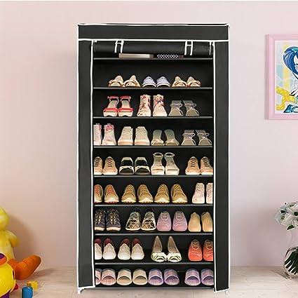 Merveilleux Amazon.com: Blissun Shoe Rack Shoe Storage Organizer Cabinet Tower With  Nonwoven Fabric Cover (Black): Home U0026 Kitchen