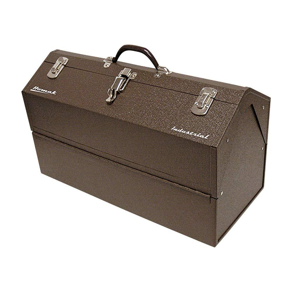 Homak Industrial 22 Inch Cantilever Steel Toolbox Brown Winkle Powder Coat BW00210220