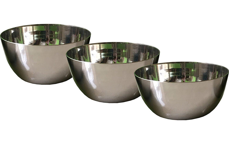 Steel water bowl,Stainless Steel Vati, Bowl, Katori, Vadki set of 3pcs,steel bowl for cookingStainless Steel Mixing Bowls Set of 3 for Cooking, Baking, Meal Prep, Serving, Nesting, Salads by Tanish Trading