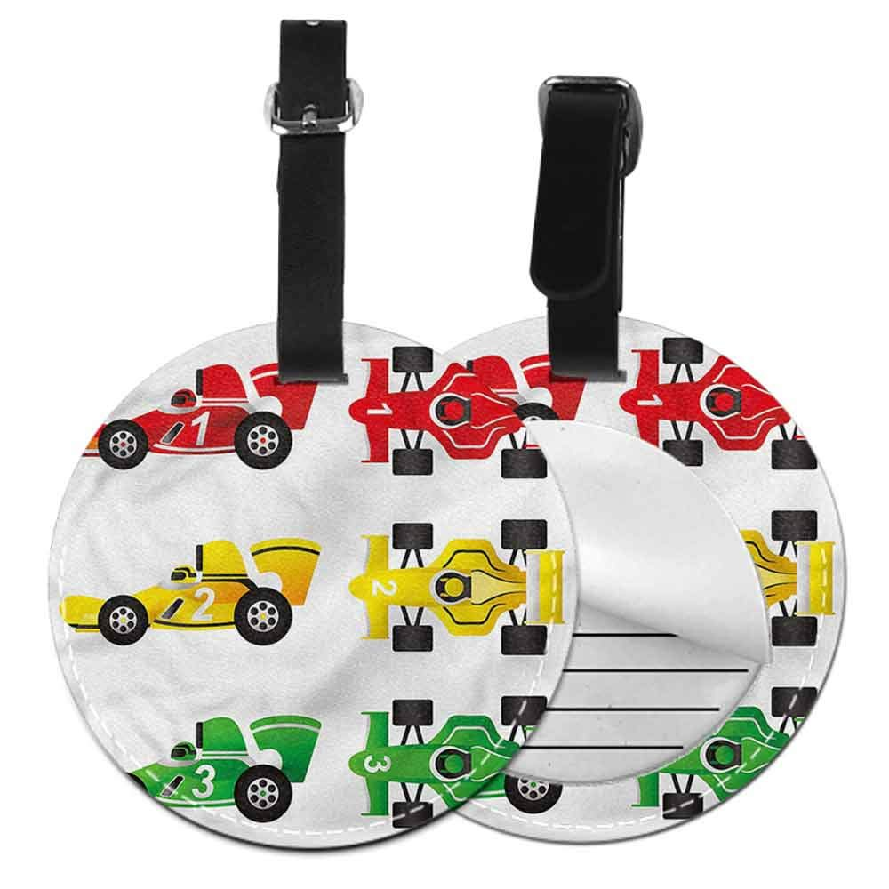 Personalized Boys Room,Race Drivers Competition Id Tag Suitcase Carry