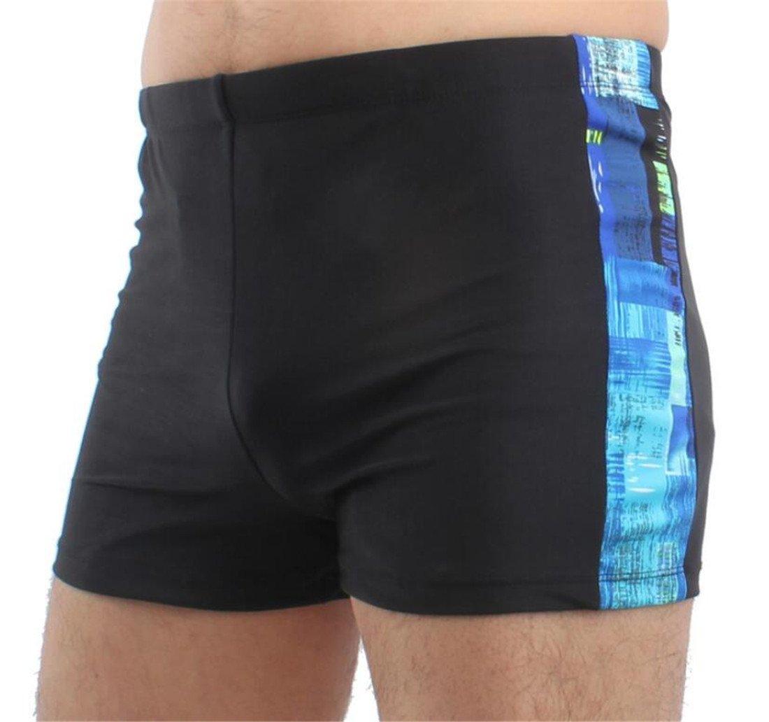 UUYUK-Men Quick Dry Square Leg Compression Swim Trunks Swimwear One US S