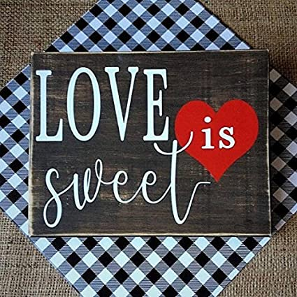 leswal41 wood sign plaque love is sweet sign rustic wedding decor candy bar sign