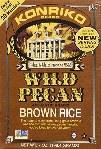 Konriko Wild Pecan Rice 7.0 Oz(Pack of 6) by KONRIKO