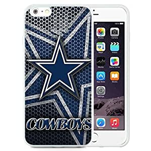 Easy Set,Customized Iphone 6 Plus Case Design with Dallas Cowboys 4 Iphone 6 Plus TPU 5.5 Inch White Cell Phone Case by runtopwell