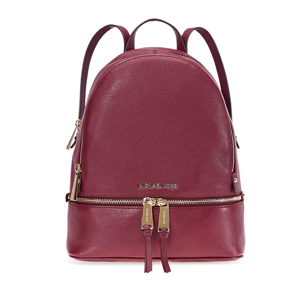 Michael Kors Rhea Medium Leather Backpack - Oxblood by Michael Kors