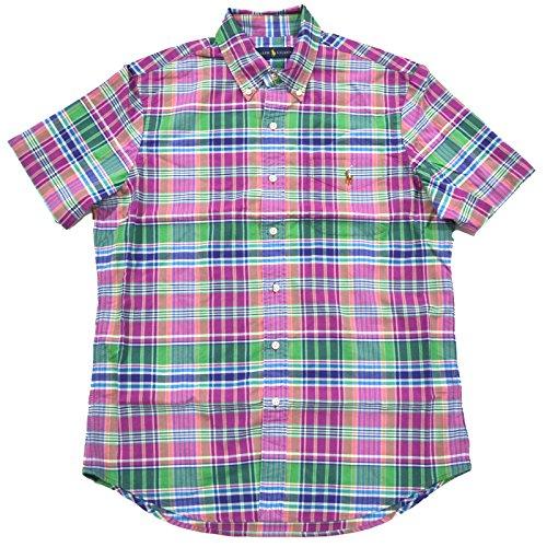 Polo Ralph Lauren Mens Short Sleeve Pocket Buttondown (Medium, Emerald Purple) (Pocket Ralph Lauren Polo)