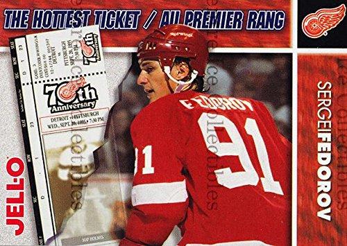 (CI) Sergei Fedorov Hockey Card 1995-96 Kraft Jell-O Hottest Tickets 4 Sergei ()