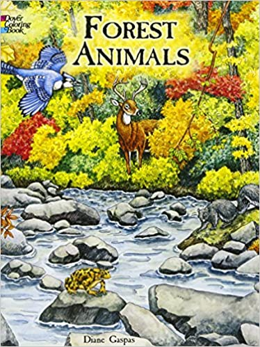 Forest Animals Coloring Book (Dover Nature Coloring Book): Dianne ...