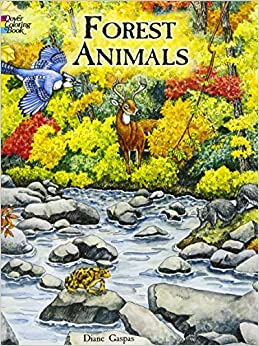 Forest Animals Coloring Book Dover Nature