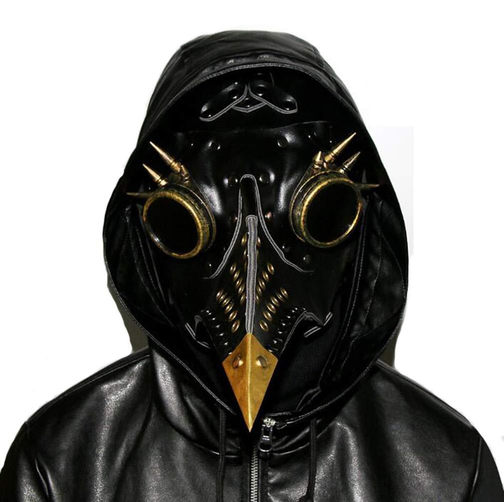 DUBAOBAO Steampunk Peste Uccello Bocca Maschera Halloween Puntelli Regalo, Halloween Maschera