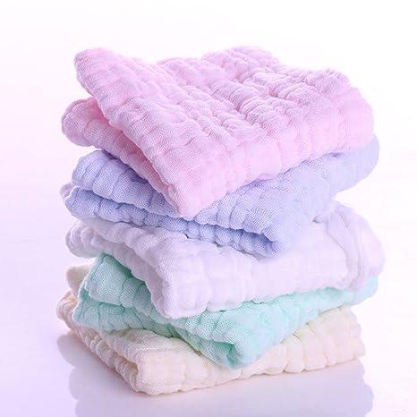 Juuly Paquete de 5 paños orgánicos Baby Washcloths / Toallitas Super-suave Reutilizable y Ultra