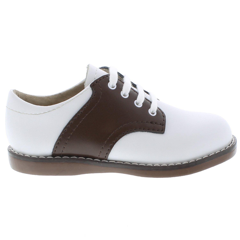 FOOTMATES Cheer Laceup Saddle White//Taffy 8407//9 Toddler M//W