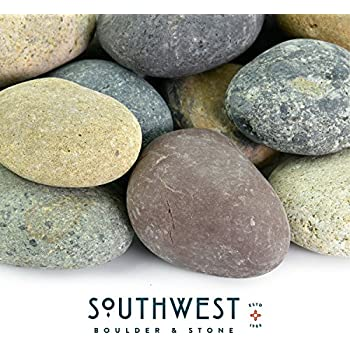 Mexican Beach Pebbles | 20 Pounds Of Smooth Unpolished Stones |  Hand Picked, Premium Pebbles For Garden And Landscape Design | Mixed, 3  Inch   5 Inch