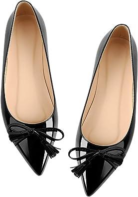 Pointed Toe Slip On Ballet Flats