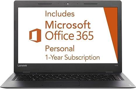 Lenovo Ideapad 14-inch Laptop PC (2016 Edition), 1-year Office 365 ($70  value), Intel Dual-Core Processor, 2GB RAM, 64GB SSD, 802 11AC WIFI,  Webcam,