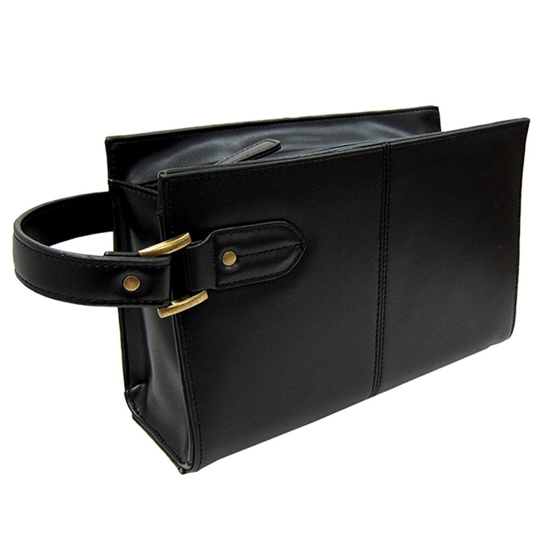 革のダイヤモンド!コードバン セカンドバッグ [Maturi] 大容量 メンズ 紳士 誕生日プレゼント(ブラック) B01M1L67U1