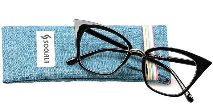 edb80f3bfe9 SOOLALA Womens Quality Readers Stylish Oversized Cat Eye Custom Reading  Glasses