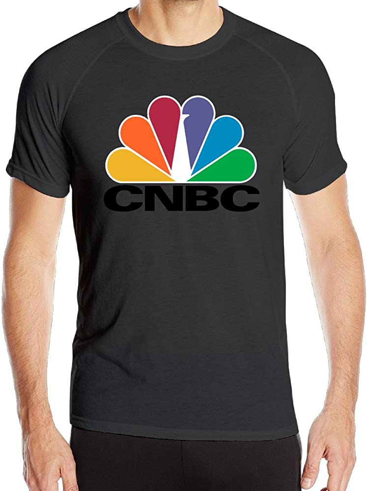 Men's CNBC Logo Sport Quick Dry Short Sleeves T-Shirt