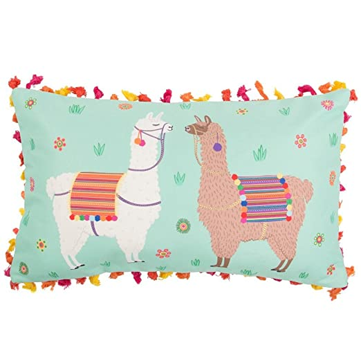 Sass & Belle Lima Llama Cushion with Tassels [Importación ...