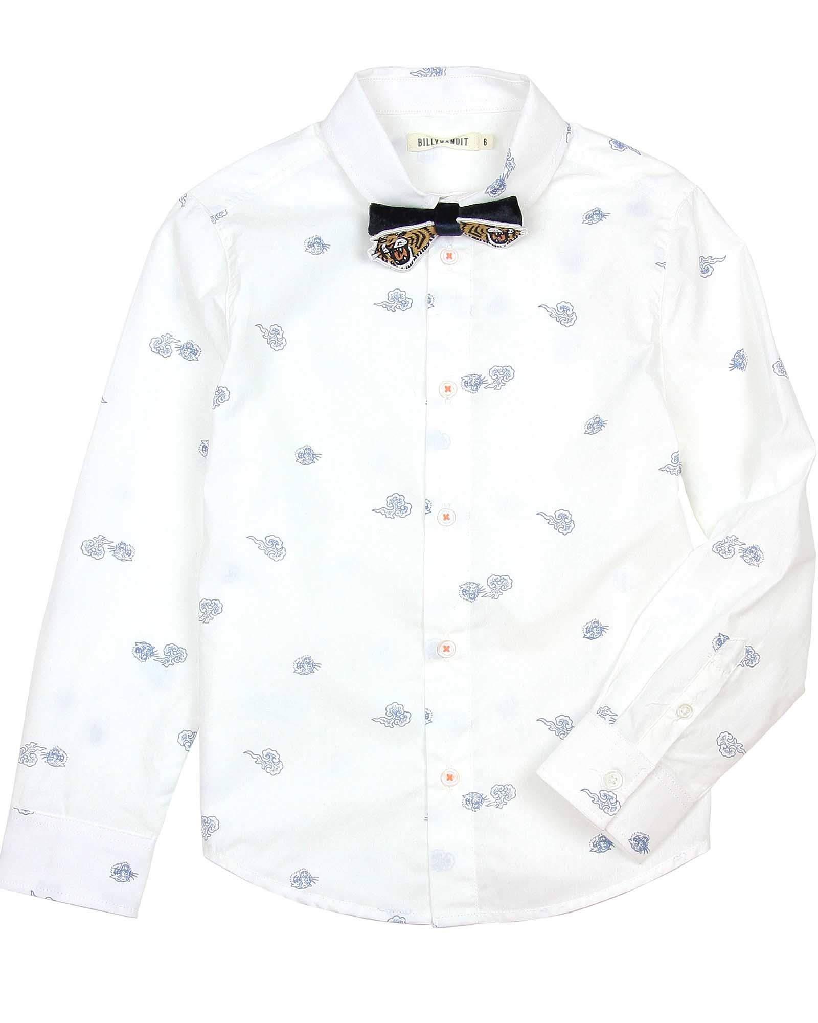 Billybandit Boys' Printed Dress Shirt with Bow-Tie, Sizes 3-10 - 3