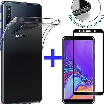 PACK】 Cristal Templado Completo A7 2018 + Funda para Samsung A7 ...